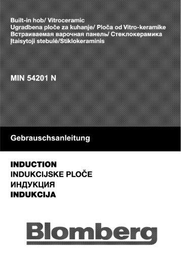 Gebrauschsanleitung - Blomberg