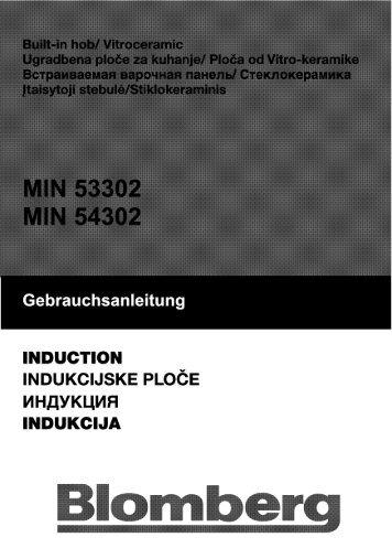 Gebrauchsanleitung - Blomberg