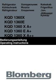KQD 1360X KQD 1360E KQD 1360 X A+ KQD 1360 E ... - Blomberg
