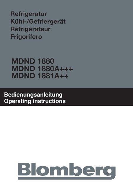 MDND 1880 MDND 1880A+++ MDND 1881A++ - Blomberg