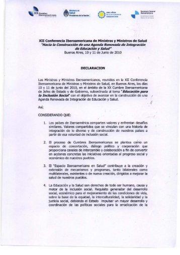 Declaración XII Conf. Iberoam Mº Salud (español).tif - Segib