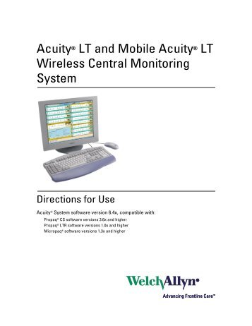 Acuity® LT and Mobile Acuity® LT Wireless Central Monitoring System