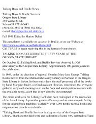 Fall 1999 - Oregon State Library: State Employee Information Center