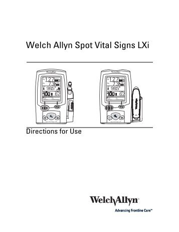 Introduction, intended use, 1 introduction | welch allyn spot.