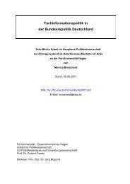 Fachinformationspolitik in der Bundesrepublik Deutschland
