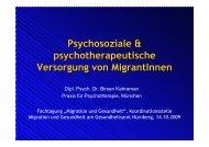 Psychologische und Psychotherapeutische Versorgung von Migranten