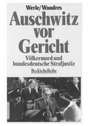Auschwitz vor Gericht - Lehrstuhl Prof. Dr. Gerhard Werle
