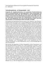Ordnungspolitisches Statement der Forschungsstelle ... - VfA