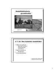 Medeltidshistoria, grundstudier ti 7.10. Den katolska ... - Turun yliopisto