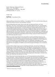 Pressemitteilung Galerie Fahnemann / Fahnemann ... - Jorinde Voigt