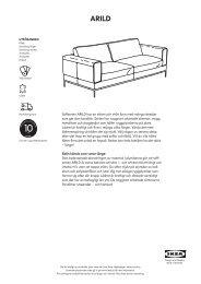 Soffserien ARILD har en stilren och strikt form med många ... - Ikea