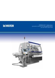 Mikron G05™ - High volume production solutions for assembled ...