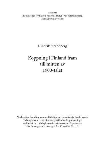 Koppning i Finland fram till mitten av 1900-talet - Helda