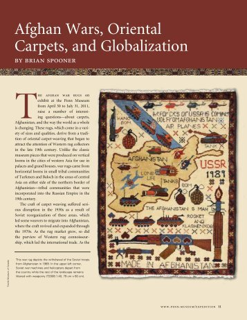 Afghan Wars, Oriental Carpets, and Globalization - University of ...
