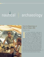 nautical archaeology - University of Pennsylvania Museum of ...