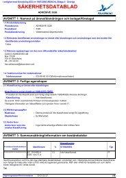 2689 ADHESIVE 3326 (Swedish (SE)) ADHESIVES SDS CLP V4 ...
