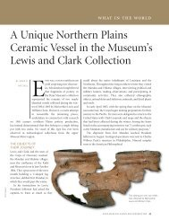 A Unique Northern Plains Ceramic Vessel in the Museum's Lewis ...