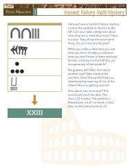 Ancient History Math Mystery