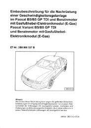 Einbaubeschreibung für die Nachrüstung im Passat 85 ... - Motor-Talk