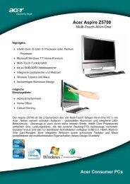 Acer Aspire Z5700 Acer Consumer PCs - Mercateo
