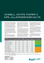 Volledig White Paper II downloaden (pdf) - Ansell Healthcare Europe