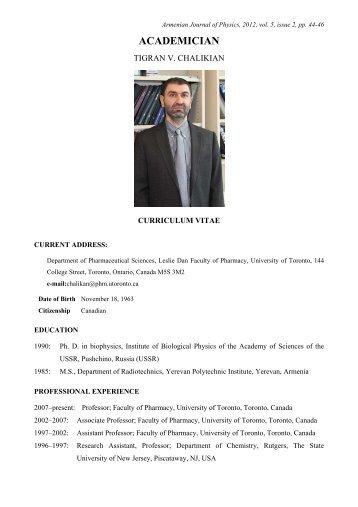 ACADEMICIAN - Armenian Journal of Physics