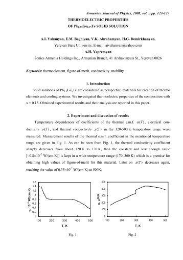 α σ χ χ - Armenian Journal of Physics