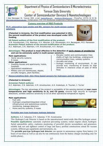 227 Cursory overview of R&D Products Authors: A.Z. Adamian, Z.N. ...
