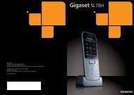 Gigaset SL78H - Schnurlostelefon.de