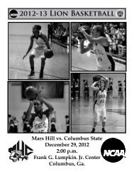 2012-13 Lion Basketball - Athletics