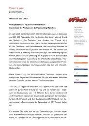 Ergebnisse der Analyse von dwif consulting München ... - Bad Urach