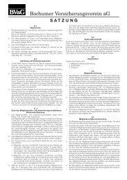 satzung - Bochumer Versicherungsverein aG
