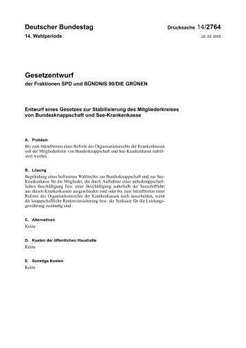 14/2764 - Deutscher Bundestag