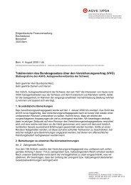 Totalrevision des Bundesgesetzes über den Versicherungsvertrag ...