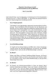 Allgemeine Verwaltungsvorschrift zur ... - VBOB