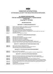 Versicherung (AFIUB) Fassung 2003 - Kontrakta