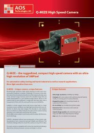Q-MIZE High Speed Camera - AOS Technologies AG