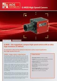 Q-MIZE High Speed Camera - AOS Technologies AG