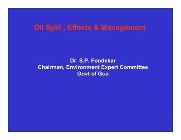 Oil Spill , Effects & Management