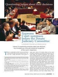 Supreme Court nominees before the Senate Judiciary Committee