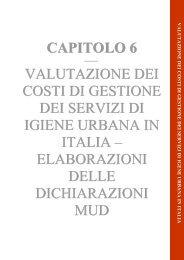 Capitolo 6 Rapporto Rifiuti Urbani 2013 - Ispra