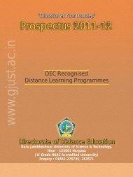 guru jambheshwar prospectus.pdf - Careergyaan.org