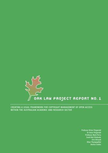 (OAK) Law Project Report - QUT ePrints