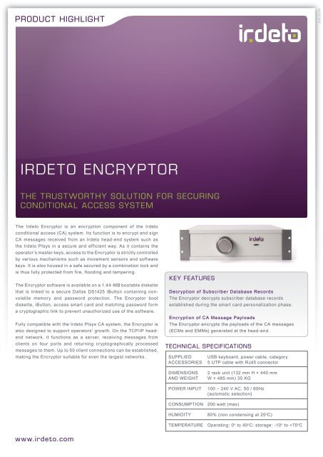 Irdeto Encryptor