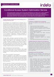 CAS Optimization Service - Irdeto