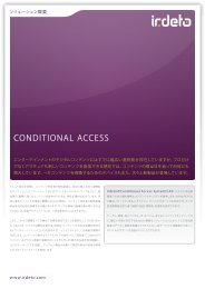 Conditional Access System - Irdeto