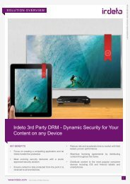 Dynamic Security for Your Content on any Device - Irdeto