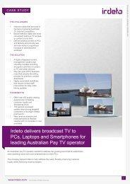 Australian pay-TV Operator - Irdeto