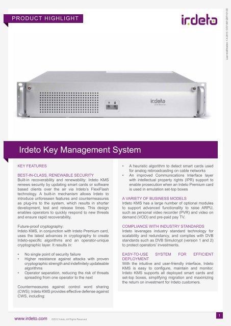 Irdeto Key Server