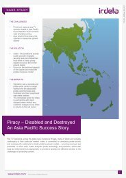 Piracy – Disabled and Destroyed: An Asia Pacific Success ... - Irdeto